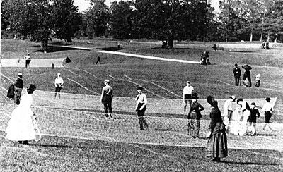 Rasentennis um 1900